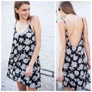 Brandy Melville Lynette Floral Open Back Dress